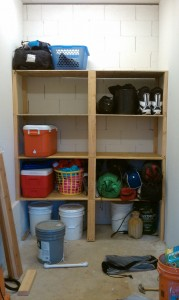 built a shelving unit on labor day weekend